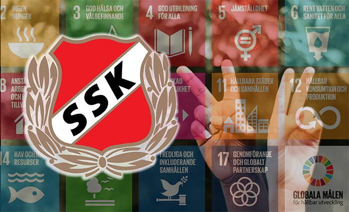Sunvära SKs logotype samt delar av de globala målen